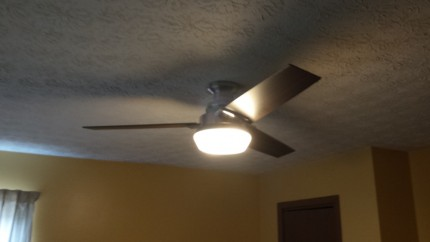 Ceiling fixture installation with fan