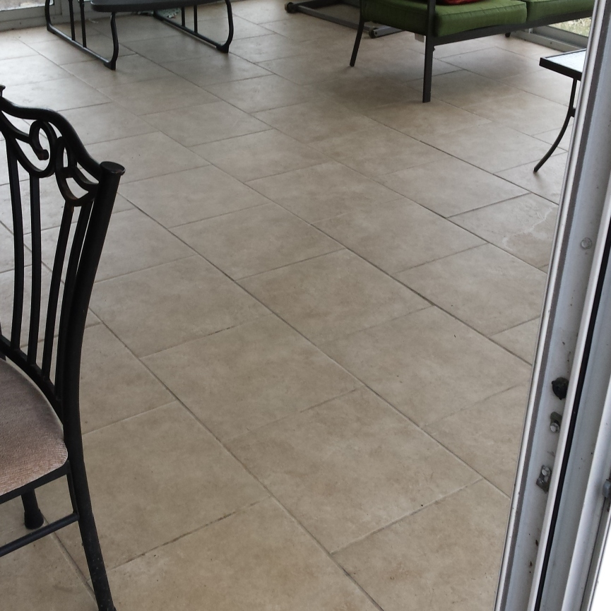 Sun Room Ceramic Tile Installation