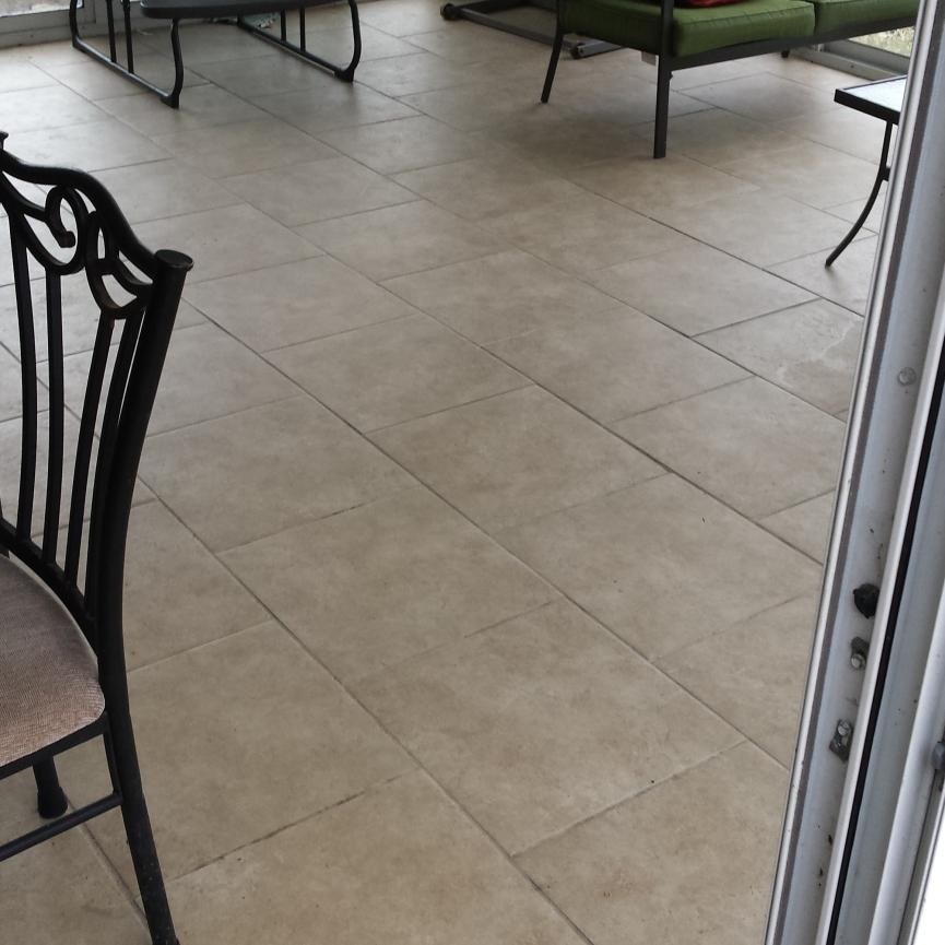Sun Room Ceramic Tile Installation